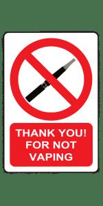 vaping ban-no vaping allowed