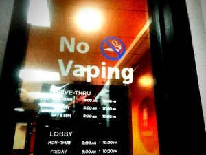 vaping banned in this place