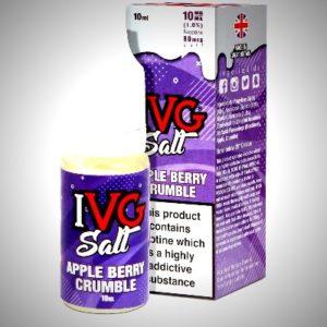 apple berry crumble nicsalt eliquid by IVG salts