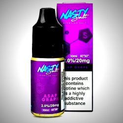 asap grape nic salt eliquid by nasty salts