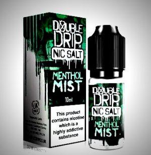 menthol mist nic salt eliquid by double drip salts