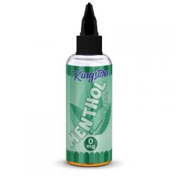 Menthol 100ml shortfill eliquid by Kingston