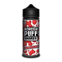 Strawberry 100ml shortfill eliquid by Moreish Puff Shakes